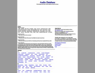 audio-database.com screenshot