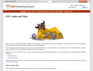 audio-video.gnu.org screenshot