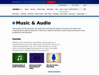 audio.tutsplus.com screenshot