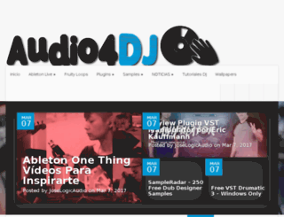 audio4dj.lawebdeldj.com screenshot