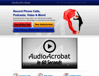audioacrobat.com screenshot