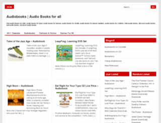 audiobooks4all.com screenshot