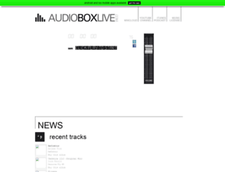 audioboxlive.com screenshot
