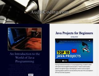 audiocoding.com screenshot