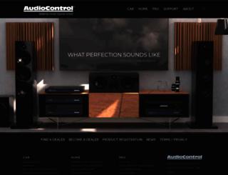 audiocontrol.com screenshot
