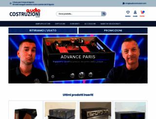 audiocostruzioni.com screenshot