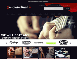 audioinclined.com screenshot