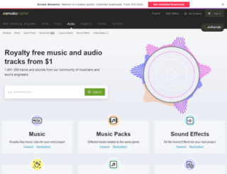 audiojungle.com screenshot