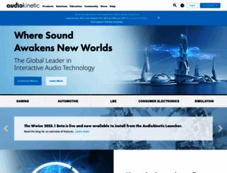 audiokinetic.com screenshot