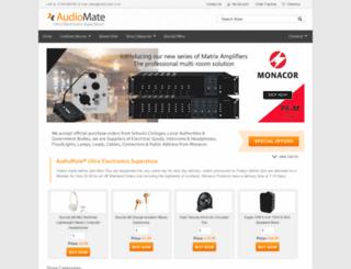 audiomate.co.uk screenshot