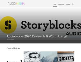 audiomedia.com screenshot