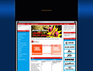 audiopro-albania.com screenshot