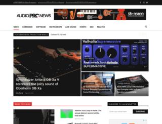 audiopronews.com screenshot