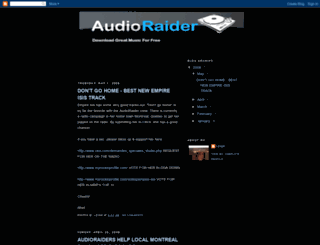 audioraider.blogspot.com screenshot