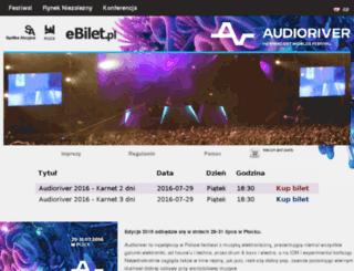 audioriver.ebilet.pl screenshot