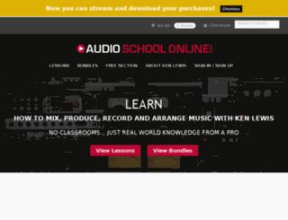 audioschoolonline.com screenshot