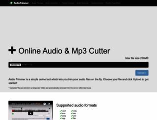 audiotrimmer.com screenshot