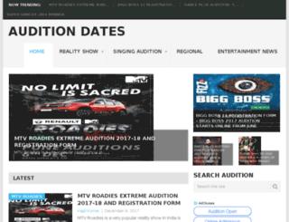 auditiondates.in screenshot