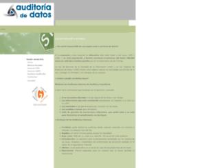 auditoriadedatos.com screenshot
