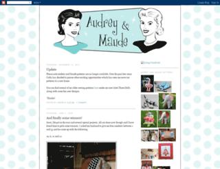 audreyandmaude.blogspot.com screenshot