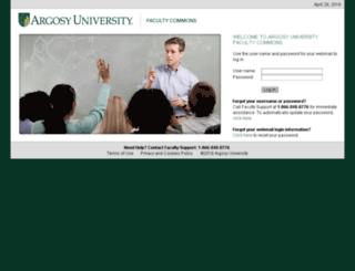 aufaculty.argosy.edu screenshot