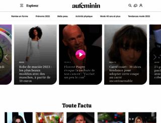 aufeminin.be screenshot