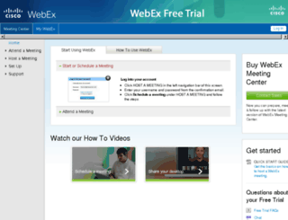 aufreetrial.webex.com screenshot