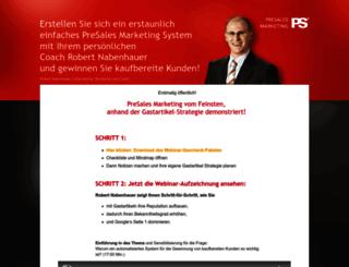 aufzeichnung.presalesmarketing.com screenshot