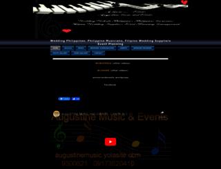 augustinemusic.yolasite.com screenshot