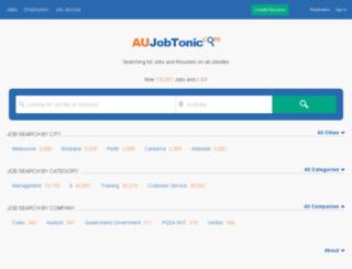 aujobtonic.com screenshot