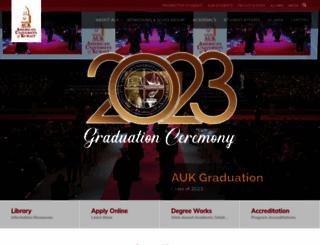 auk.edu.kw screenshot