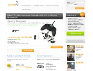 aukcjevip.pl screenshot