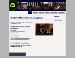 aukrugschule.lernnetz.de screenshot