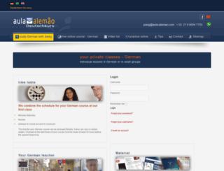 aula-alemao.com screenshot