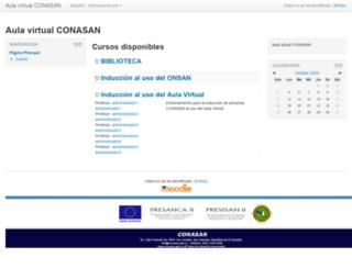 aula.conasan.gob.sv screenshot