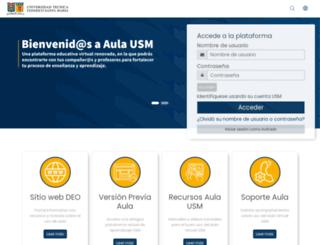 aula.usm.cl screenshot