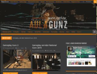 aulagunz.com.br screenshot
