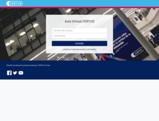 aulavirtual.certus.edu.pe screenshot