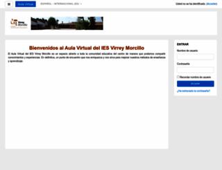 aulavirtual.iesvirreymorcillo.es screenshot