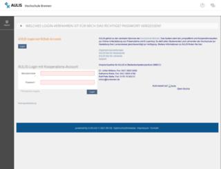 aulis.hs-bremen.de screenshot