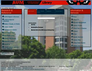 aumnicat.aum.edu screenshot