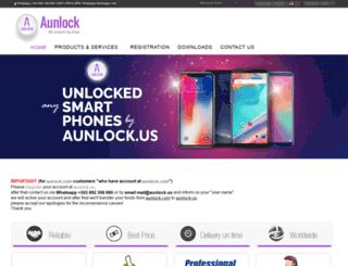 aunlock.com screenshot