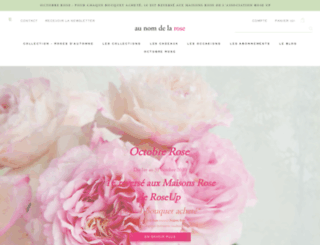 aunomdelarose.com screenshot