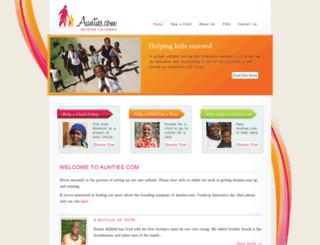 aunties.com screenshot
