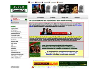 aupairkontakt.de screenshot