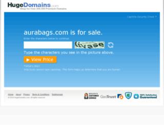 aurabags.com screenshot