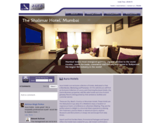aurahotelsindia.com screenshot