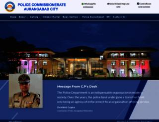 aurangabadcitypolice.gov.in screenshot
