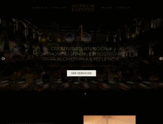 aureliaeventos.com screenshot