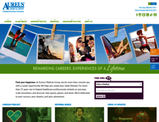 aureusmedical.com screenshot